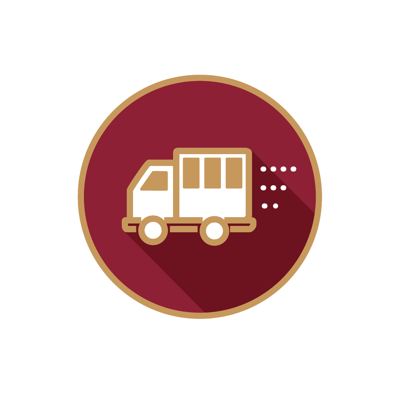 Students can get to campus easily for classes with our shuttle.